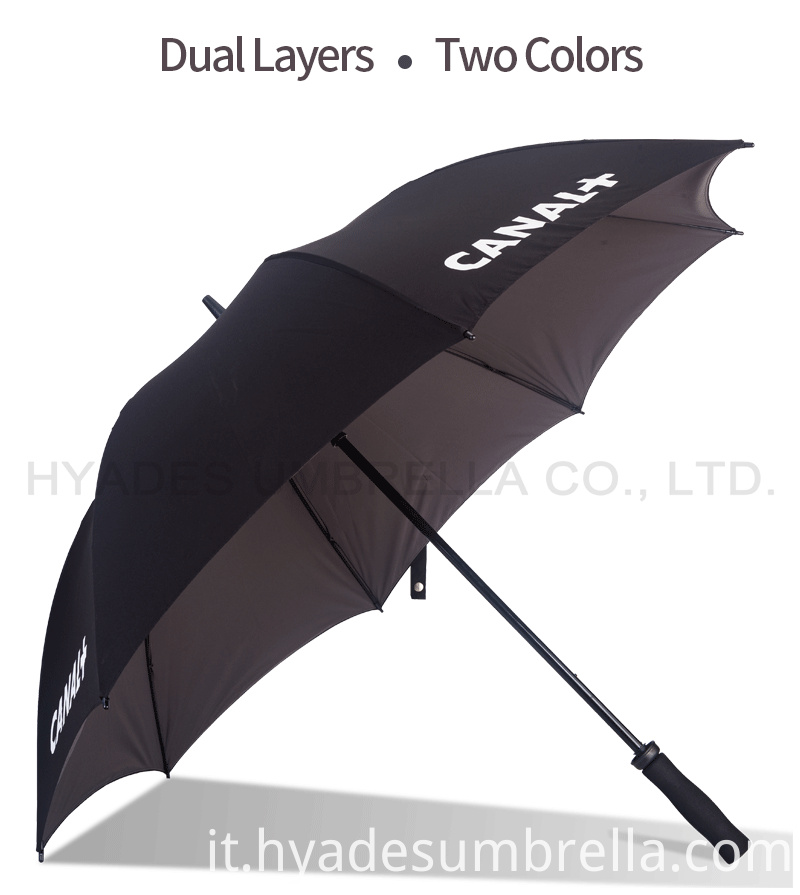 Two Colors Dual Layer Straight Umbrella