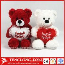 Пара свадебный медведь красный и белый мягкие игрушки мягкий плюшевый медведь