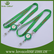 Promotion Pull reel Retractable id badge holders for lanyard with good price