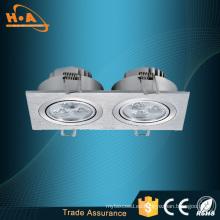 Ahorro de energía Doble Downlighters LED Iluminación de techo