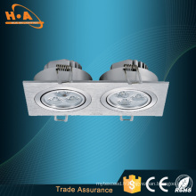 Éclairage économiseur d'énergie de plafond de Downlighters LED double