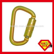 ANSI-2448TL Acier galvanisé Classic D Type Twist Lock ANSI Carabiner