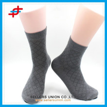 Men's bamboo fabric check patterned classic socks