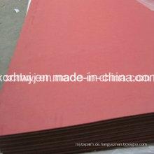 Elektrische Isolierung Vulkanisierte Faser Papier Blatt Dichtung, 100% Baumwolle Pulp Red Vulkanisierte Faserplatten Hersteller