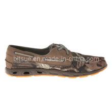 Chaussures de bateau New Style en cuir de nature
