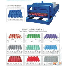 Máquina formadora de paneles ondulados