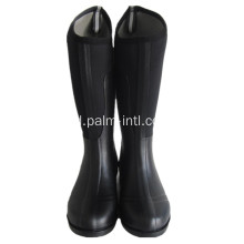 Black Neoprene Riding Boots