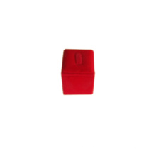 Soporte de visualización de anillo de dedo individual de joyería de PU rojo (RS-R1C)