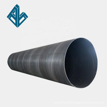 ASTM DIN Large Diameter Spiral Welded Carbon Black Steel Pipe/Pipes Price List Per Ton Manufacturer Price
