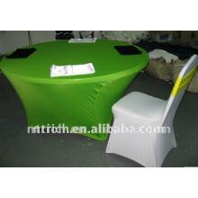 Tissu de table pas cher lycra, utilisé pour la couverture de chaise de spandex de banquet