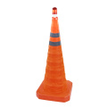70cm telescopic flashing folding traffic cones