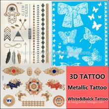 Etiquetas especiais do tatuagem da cor para as mãos flor henna tatuagem branco etiqueta tattoo sexy j032