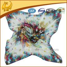 Novo lenço quadrado de seda Twill