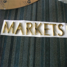 Carteles de letras de metal para empresas pintadas o chapadas