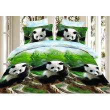 3D Panda Design Microfiber Duvet Cover Set und Bettwäsche Baby Bettwäsche Set