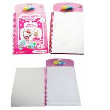 Magic spray paint Hello kitty Crianças livro de pintura de água livro de doodle bonito aquawater com caneta de água
