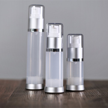 15g 20g 25g 30g 35g White Airless Bottle with Silver Base