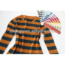 Мода кашемир в полоску ветроуловителя шеи свитер для леди
