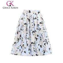 19 faldas de la falda de la vendimia 50S 60S del algodón de las mujeres de Karin de la tolerancia de los colores bordea CL6294-13 #