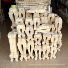 patas de los muebles de madera