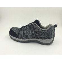 Nouveau design Flyknit tissu couleur gris chaussures de sécurité (16063)
