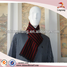 Hot Selling Winter Long Jacquared Stripe Cashmere Scarf Men