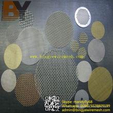 Disco de filtro de malha de arame de aço inoxidável