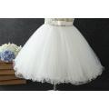 Großhandelskind-Butikenkleidungs-Blumennettomädchenkind weißes Engelskleid