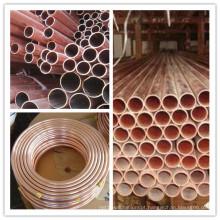 Ar condicionado e refrigerador Tubo de cobre vermelho C11000 C12200