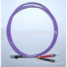 Purple MTRJ-ST Duplex OM4 Cordon de fibre optique