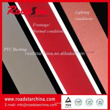 Cuero artificial del PVC reflexivo colorido