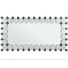 Rectangular bathroom mirror hanging on the wall