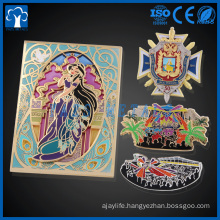 wholesale custom metal glass ,glow,glitter , Cartoon enamel lapel pins