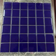 Azulejos de mosaico de cerámica azul para la piscina