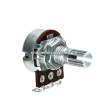 Potentiomètre rotatif 16K4 simple tige courte 100k avec interrupteur