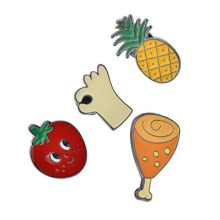 Todos os alimentos favoritos Gold Plated Lapel Pins