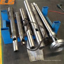 barril de tornillo de máquina de molde de inyección con tratamiento nitrurado y bimetálico
