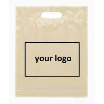 Customized printing logo plastic bag with handle