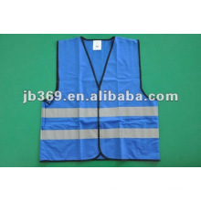 High visibility blue reflective vest