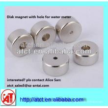 Imán de neodimio disco con agujero para contador de agua