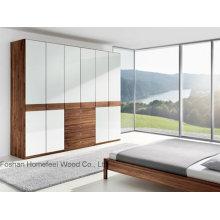 White Gloss Unique Lacquer Wardrobe Cabinet (HF-EY09042)