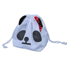 Lovely cotton pouch with Panda face logo