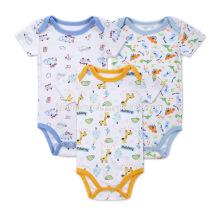 2017 New Born Bio Baby Kleidung Set Baumwolle Gedruckt Cartoon Baby Strampler Tiere