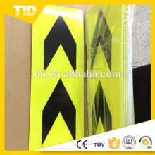 Arrow Hard Floresent Yellow Black Relective Sticker Tape