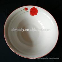 tazón de cerámica impreso personalizado respetuoso del medio ambiente
