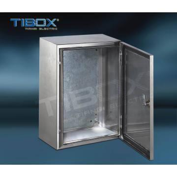 Caixa de aço inoxidável com porta única e em branco