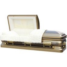 18GA Gloden escova de aço caixão para o Funeral
