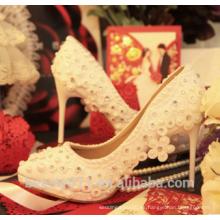 Mujeres nupcial de cristal de la boda zapatos WS005