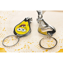 Promotional Gifts Custom Design Nail Clipper Key Ring Bottle Opener