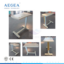 АГ-OBT003 красочные медицинские обеденный стол с 4 колесами над таблицей кровати